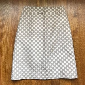 J Crew polka dot size 4 pencil skirt (silk blend)